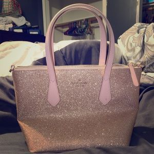Authentic Kate Spade Purse (rose gold glitter)